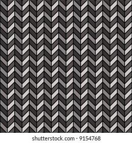 A repeating herringbone pattern in black and gray.