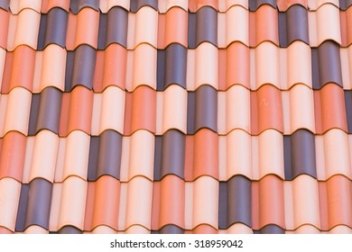 Repeating Tile Roof Pattern