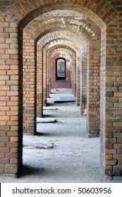 Repetitive Arches with Focus on the Furthest at Fort Jefferson