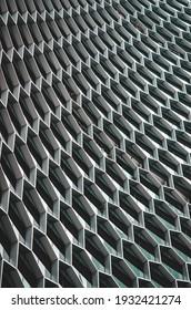 Wiederholte Architektur auf Gebäuden in Singapur