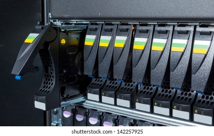 replacement of a defective hard drive in the storage system in the data center