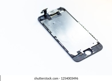 Replacement screen from a mobile phone on white Background