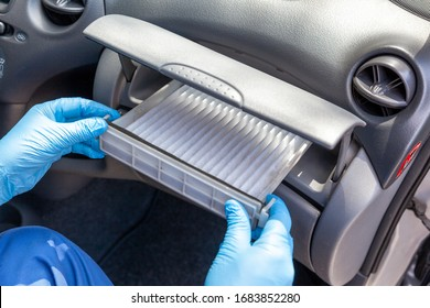 Replacing cabin pollen air filter for a car as prevention against coronavirus disease