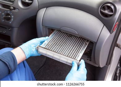 Replacing an old car cabin air filter