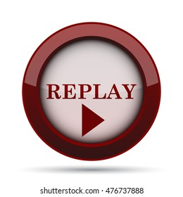 Replay icon. Internet button on white background.