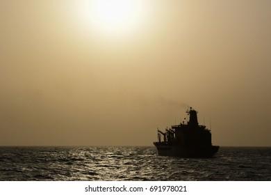 Replenishment Ship at Sea