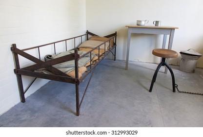 Replica of an dark old dutch jail