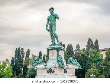 Replica of David Statue by Michelangelo at Michelangelo piazza , this place has amazing city view and they put david Statue over at the top to look down and the city and take care of Florence