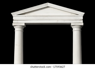 Replica and detail piece of an ancient Greek temple