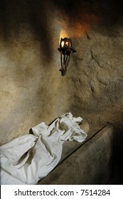 A replica of the empty tomb from which Jesus rose.