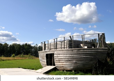 Replica of Noah's ark, ready to take in animals before the great flood