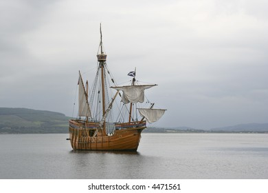 Replica sailing ship at Rothesay, Bute