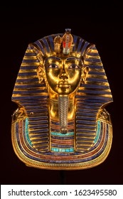 Replica of the Tutankhamun's funeral mask found in Egypt