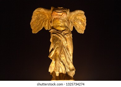 Replica of the Winged Victory of Samothrace, Ponferrada, Leon, Spain.