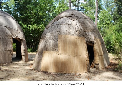 Replicas of traditional native American houses