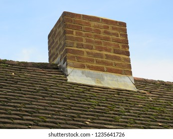 Repointed brick chimney stack