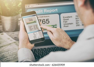 report credit score banking application risk form document