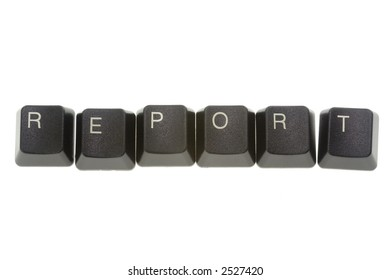 REPORT formed by keys of a computer keyboard