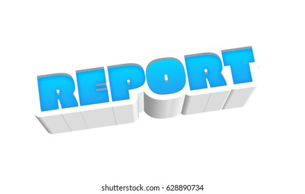 Report Text for Title or Headline. In 3D Fancy Fun and Futuristic style
