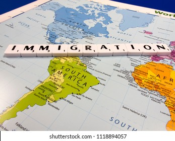 representation of immigration across the United States of America and Mexico international border