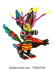 Representative elements of the Mexican Alebrijes sculptures
