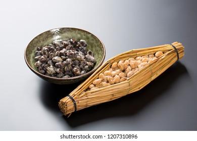 Representative Japanese soybean fermented food (natto)