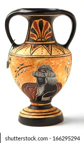 A reproduction of a Nikosthenic black figure amphora from the Hellenistic period. The original is from  Cyprus. The copy is typical of archaeological tourist souvenirs sold across Greece and Cyprus.