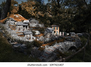 Reproduction of village of the Ligurian Apennines - Liguria - Italy