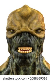 reptilian king from space 3d illustration