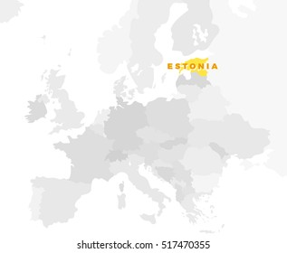 Romania location modern detailed map all stock illustration republic of estonia location modern detailed map all european countries without names template of gumiabroncs Images