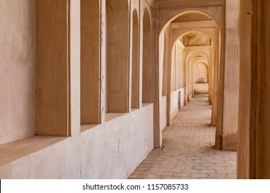 Republic of Iran. Isfahan, Kashan. Borujerdi house. Traditional Persian architecture. Interior arched walkway. 04 March 2018