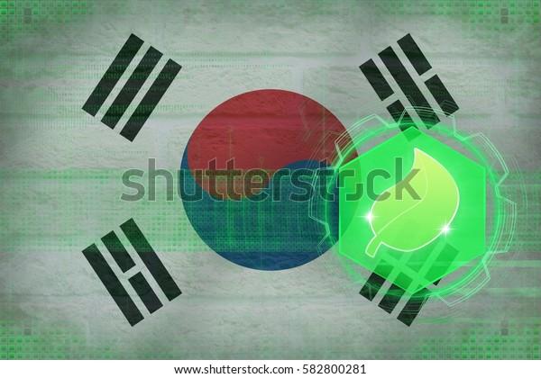 Republic of Korea (South Korea) ecology. Ecology safety concept.