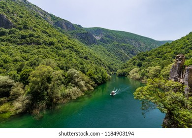 Republic of Macedonia - May 12 2018: Matka Canyon
