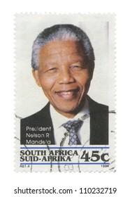 REPUBLIC OF SOUTH AFRICA - CIRCA 1994: A stamp printed in Republic of South Africa shows an image of Nelson Mandela, circa 1994