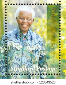 REPUBLIC OF SOUTH AFRICA - CIRCA 2008: postage stamp printed in Republic of South Africa showing an image of Nelson Mandela, circa 2008.