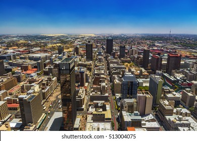 Republic of South Africa. Johannesburg, Gauteng Province. Cityscape (west part) seen from the Carlton Center viewing deck