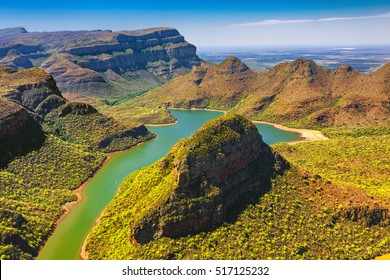 Republic of South Africa - Mpumalanga province. Blyde River Canyon (the largest green canyon in the world, fragment of the Panorama Route)