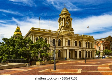 Republic of South Africa. Port Elizabeth (The Bay, Die Baai, Windy City). The City Hall built in the colonial style and the Market Square