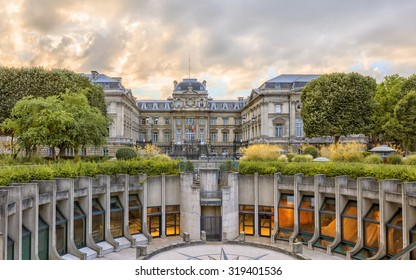 Republic square, overlooking the amphitheater and the Prefecture, Lille, Nord France