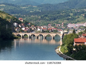 Višegrad, Republic of Srpska, Bosnia and Herzegovina. A famous bridge on the Drina River whose construction was described by Nobel laureate Ivo Andric.