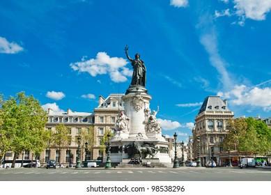 Republic statue in Paris