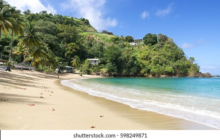 Republic of Trinidad and Tobago - Tobago tropical island - Parlatuvier bay - Tropical beach of Caribbean sea