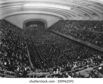 Republican Convention in session in the Public Auditorium, Cleveland, Ohio, June 10-12, 1924. The Public Auditorium opened in 1922 and hosted the first National Political Convention in Cleveland's his