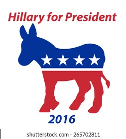 A Republican Donkey Hillary for President in 2016 sign