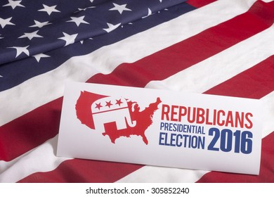 Republican election on textured American flag