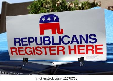 Republican Registration Booth