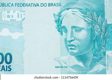 Republic's Effigy portrayed as a bust on Brazilian money. Super