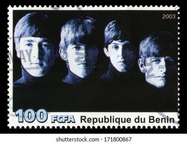 REPUBLIQUE DU BENIN - CIRCA 2003: A postage stamp portraying an image of The Beatles, circa 2003.