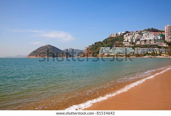 Repulse Bay beach in Hong Kong, China