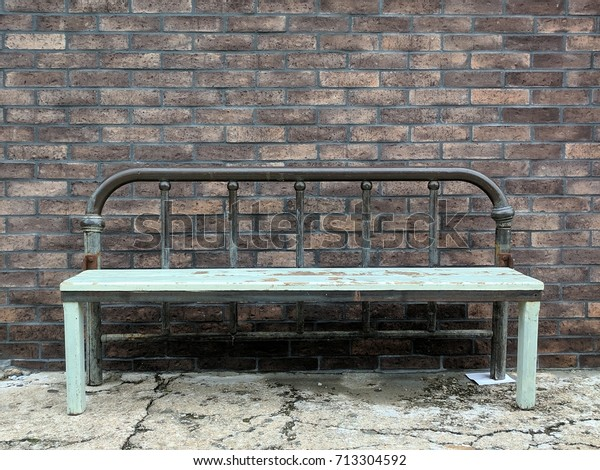 Cool Repurposed Bed Frame Made Into Bench Stock Photo Edit Now Gamerscity Chair Design For Home Gamerscityorg